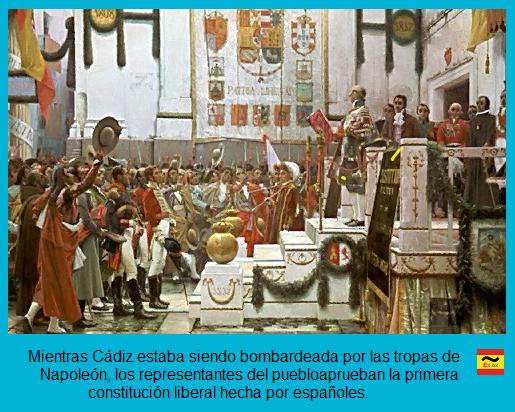 """En Cádiz se aprueba la constitucion liberal """"La Pepa"""""""