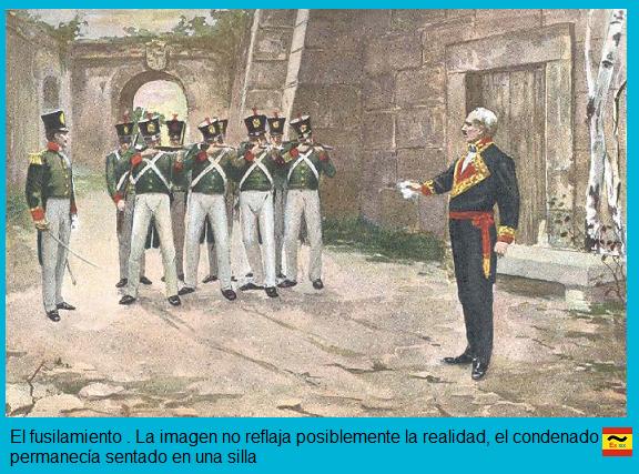 fusilamiento general Lacy organizador del pronunciamiento de caldetas