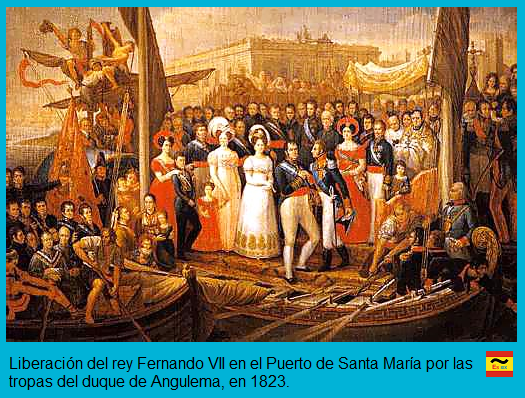 Fernando VII es liberado