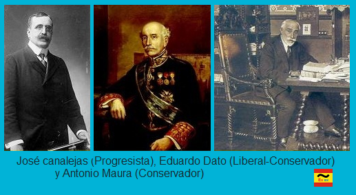 Canalejas, Eduardo Dato y Antonio Maura