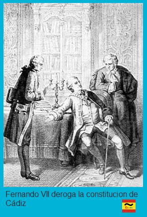 Fernando VII deroga la constitucion