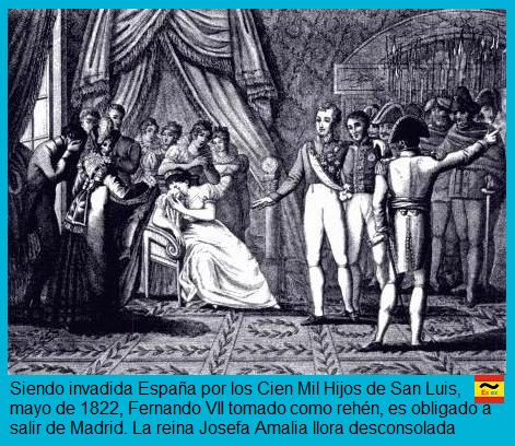 Fernando VII sale de Madrid