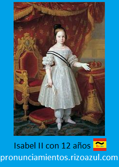 Isabel II a los 12 años