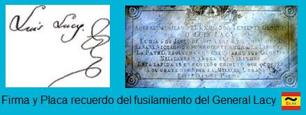 placa y firma Lacy