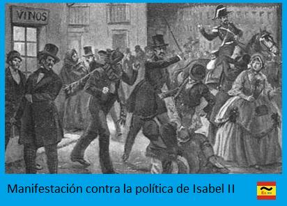 manifestación contra Isabel II