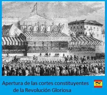 Apertura de las cortes constituyentes de la Revolución Gloriosa