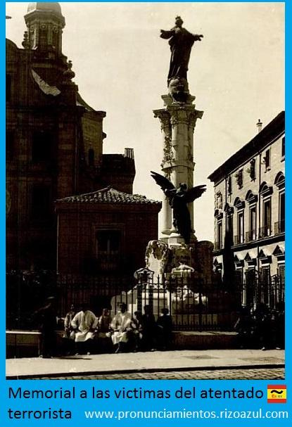 Monumento original a las víctimas del atentado terrorista