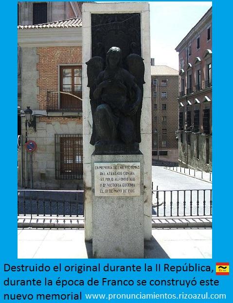 Monumento actual en recuerdo de las victimas del atentado terrorista