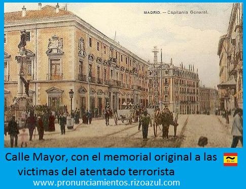 calle Mayor de Madrid donde se encuentra el monumento a las víctimas del atentado terrorista