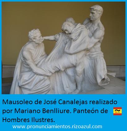 mausoleo de José Canalejas. Panteón hombres ilustres