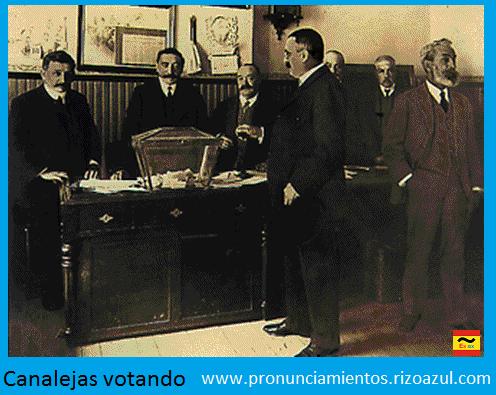 Canalejas votando