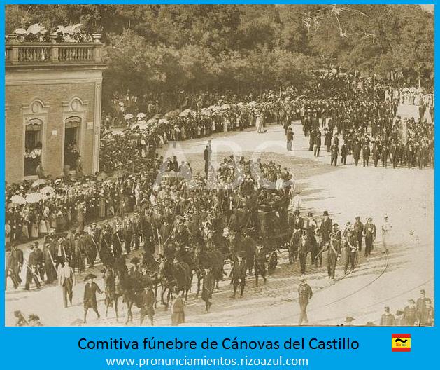 Cortejo fúnebre de Cánovas del Castillo