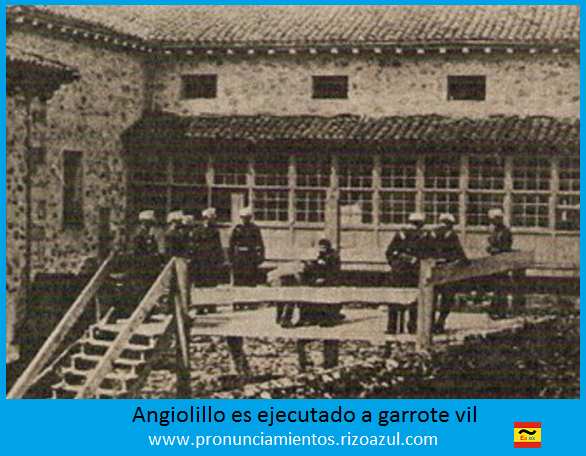 asesinato de Cánovas, Angiolillo ajusticiado a garrote vil