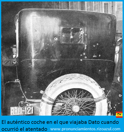 El coche del atentado de Eduardo Dato Iradier
