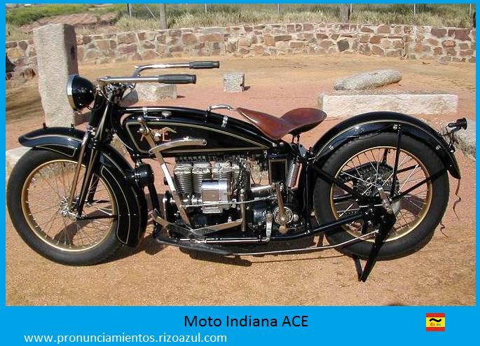 La moto ACE modelo Indiana del asesinato de Dato Iradier