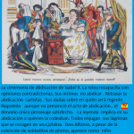 caricatura la Flaca. Abdicación de Isabel II