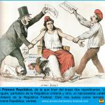 Caricatura La Flaca: la república federal frente a la unitaria