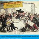 Caricatura La Flaca: Prim repartiendo el turrón