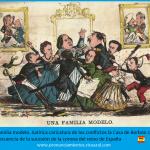 Caricatura La Flaca: la familia modelo borbónica
