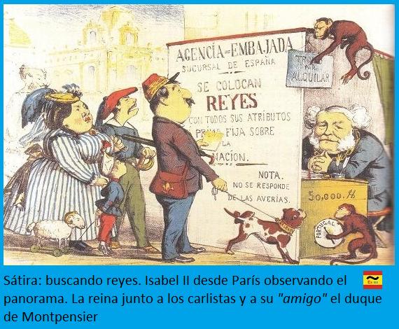 Sátira buscando reyes para el trono de España