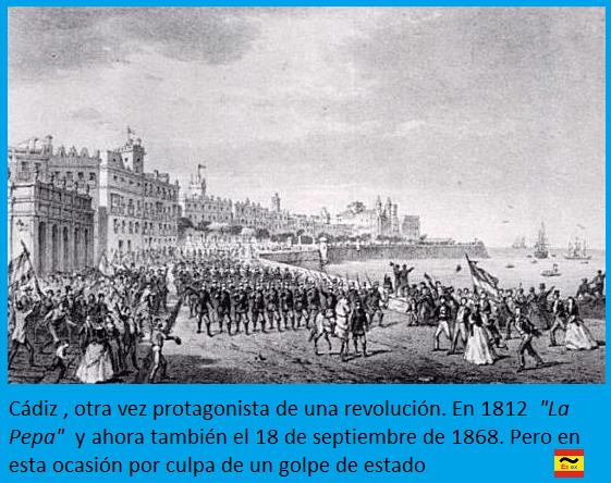 Cádiz protagonista en la Revolución Gloriosa