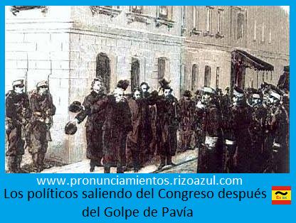 los diputados de largan de las Cortes. Los militares vigilan