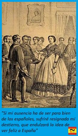 Isabel II deja el trono de España
