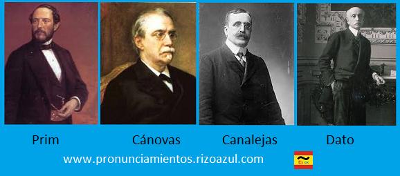 Los magnicidios de la Historia de España en el siglo XIX. Juan Prim, Antonio Cánovas, José Canalejas y Eduardo Dato