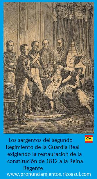 María Cristina es obligada a proclamar la constitución de 1812