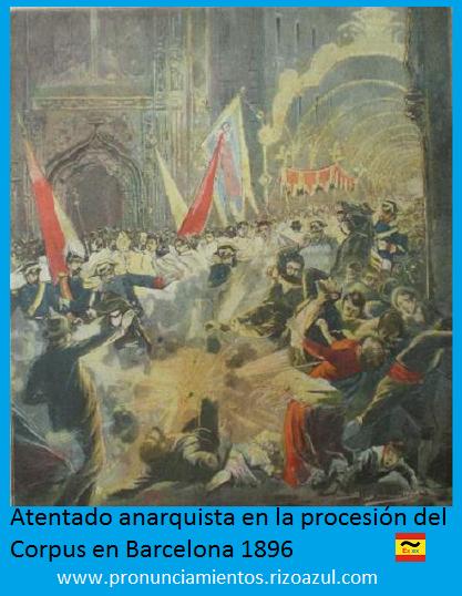 Atentado procesión corpus de Barcelona 1896