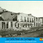 calle Real durante el levantamiento cantonal de Cartagena