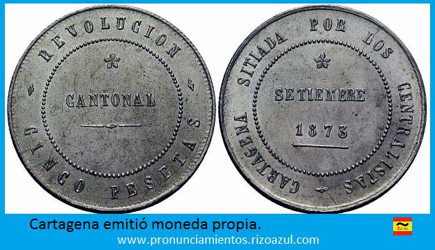 Moneda emitida por el cantón de Cartagena