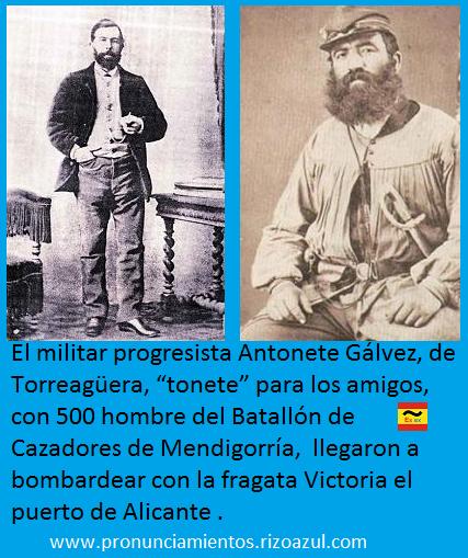 Tonete Gálvez, líder militar del Cantón de Cartagena