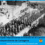 Tropas republicanas entrado en el cantón independiente