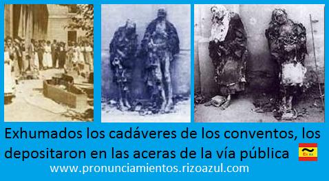 Semana trágica de Barcelona. Exhumación de los cadáveres de los conventos