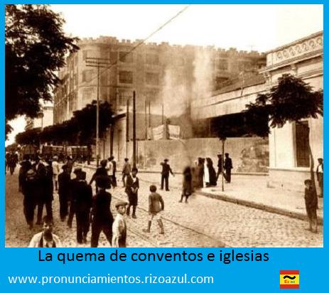 Semana trágica de Barcelona.La quema de conventos e iglesias